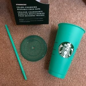LAST ONE Starbucks color changing tumbler cup